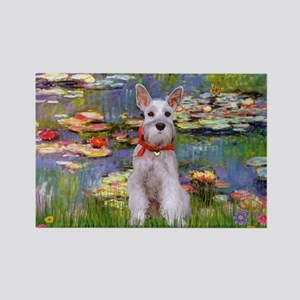 Lilies / M Schnauzer Rectangle Magnet