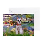 Lilies / M Schnauzer Greeting Cards (Pk of 10)