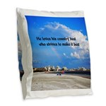 Love of Country Burlap Throw Pillow