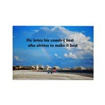 Love of Country Rectangle Magnet