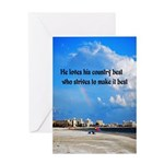 Love of Country Greeting Card