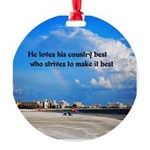 Love of Country Round Ornament