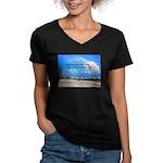 Love of Country Women's V-Neck Dark T-Shirt