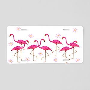 Pink Flamingo Aluminum License Plate