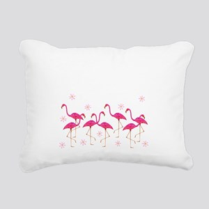 Pink Flamingo Rectangular Canvas Pillow