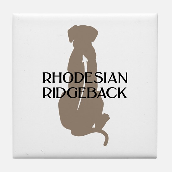 Ridgeback w/ Text Tile Coaster