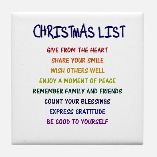 PERFECT UNIQUE CHRISTMAS GIFT Tile Coaster