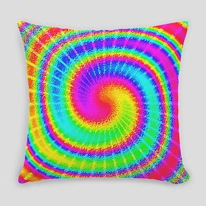 Retro Tiedyed Tie Dye Swirl Everyday Pillow