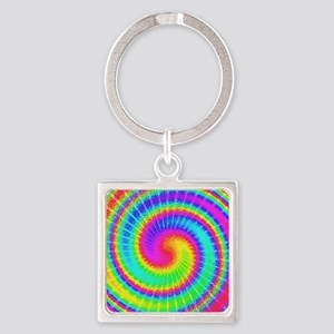 Retro TieDyed Tie Dye Swirl Colorful 60s Keychains