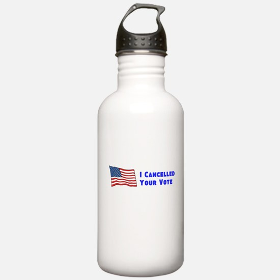 Cancelled Vote Water Bottle