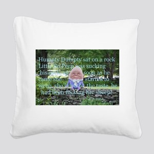 Adult Humor Nursery Rhyme Square Canvas Pillow