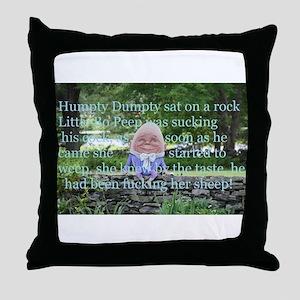 Adult Humor Nursery Rhyme Throw Pillow