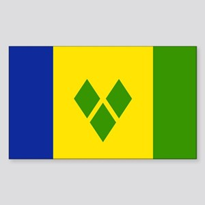 Saint Vincent and Grenadines Rectangle Sticker