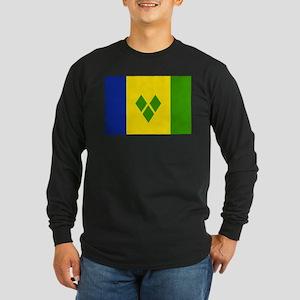 Saint Vincent and Grenadines Long Sleeve Dark T-Sh