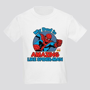 My Dad is Amazing Like Spider-M Kids Light T-Shirt