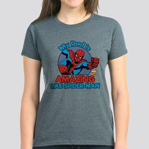 My Dad is Amazing Like Spider Women's Dark T-Shirt