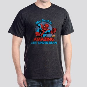My Dad is Amazing Like Spider-Man Dark T-Shirt