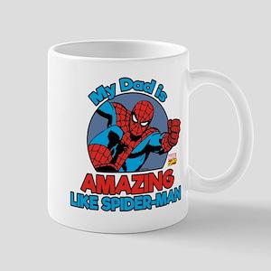 My Dad is Amazing Like Spider-Man Mug