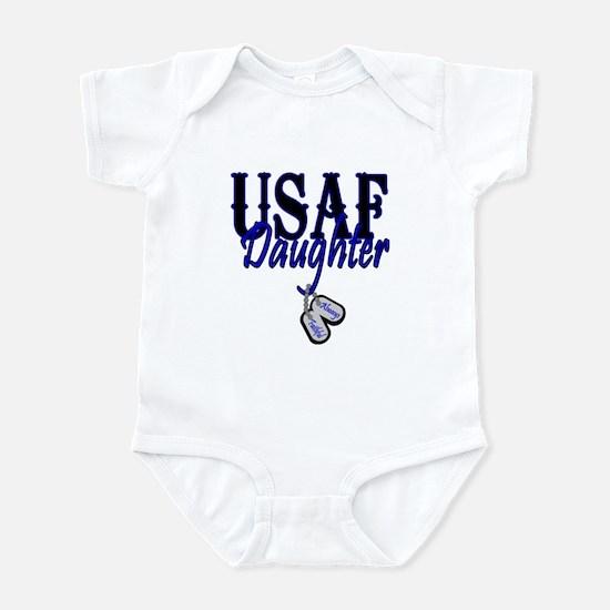 Air Force Daughter Dog Tag Infant Bodysuit