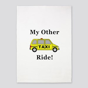 Minivan Taxi My Other Ride 5'x7'Area Rug