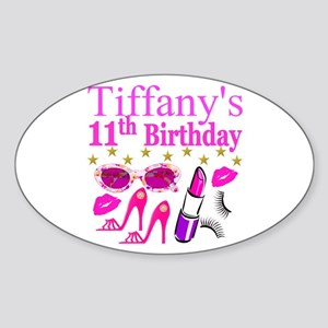 PERSONALIZED 11TH Sticker (Oval)