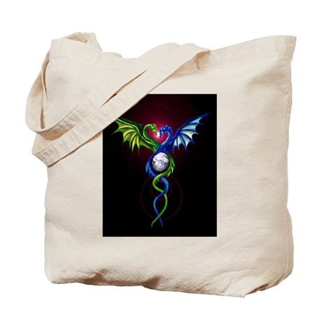Dragon Caduceus Tote Bag