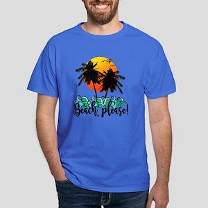 Beach Please Funny Summer Dark T-Shirt
