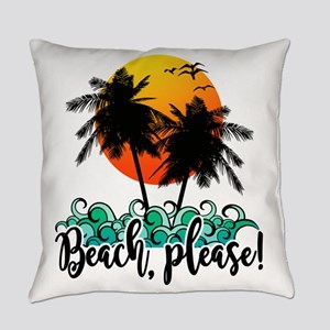 Beach Please Funny Summer Everyday Pillow