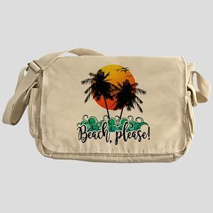 Beach Please Funny Summer Messenger Bag
