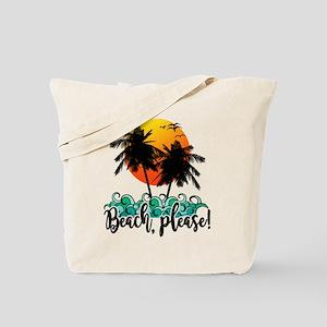 Beach Please Funny Summer Tote Bag