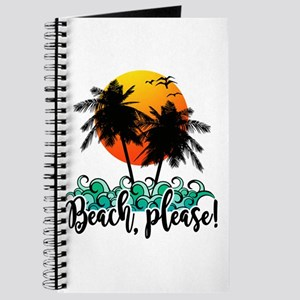 Beach Please Funny Summer Journal