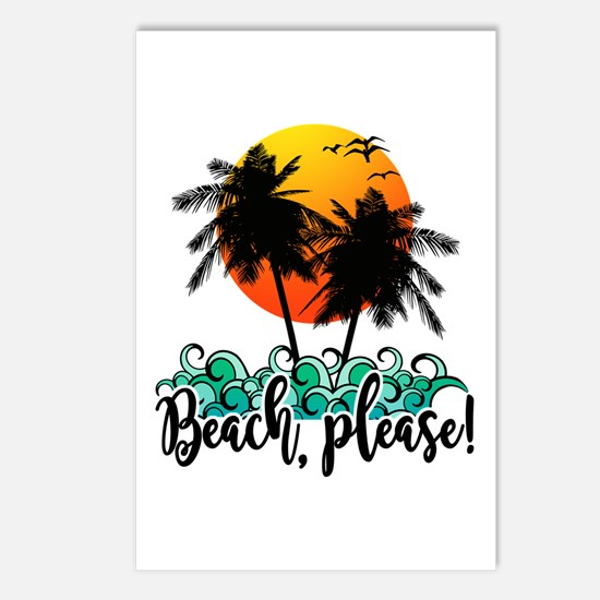 Beach Please Funny Summer Postcards (Package of 8)