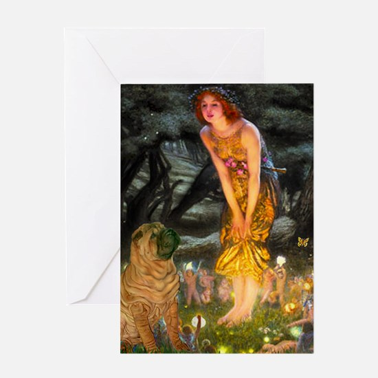 Fairies / Shar Pei Greeting Card