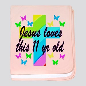 CHRISTIAN 11TH baby blanket