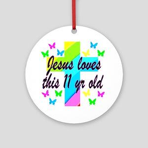 CHRISTIAN 11TH Round Ornament