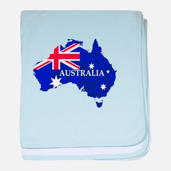 Australia flag Australian Country baby blanket