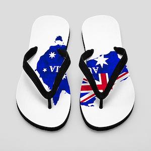 Australia flag Australian Country Flip Flops