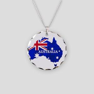 Australia flag Australian Co Necklace Circle Charm