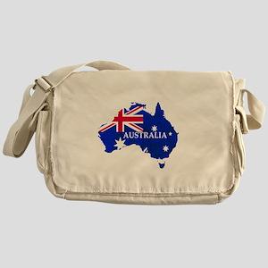 Australia flag Australian Country Messenger Bag