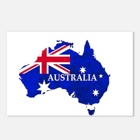 Australia flag Australian Postcards (Package of 8)