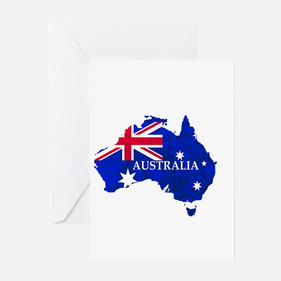 Australia flag Australian Country Greeting Cards
