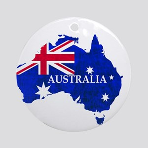 Australia flag Australian Country Round Ornament