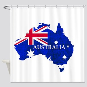 Australia flag Australian Country Shower Curtain