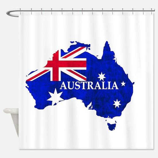 Australia flag Australian Country Shower Curtain
