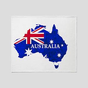 Australia flag Australian Country Throw Blanket