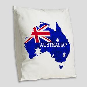 Australia flag Australian Coun Burlap Throw Pillow