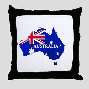 Australia flag Australian Country Throw Pillow
