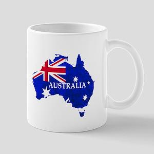 Australia flag Australian Country Mugs
