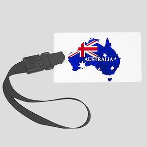 Australia flag Australian Countr Large Luggage Tag