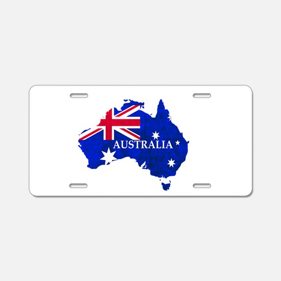 Australia flag Australian C Aluminum License Plate